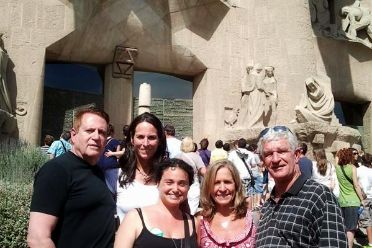 Guests and guide on our Sagrada Familia private tour