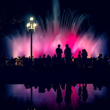 Evening after going around tapas bars near magic fountain barcelona