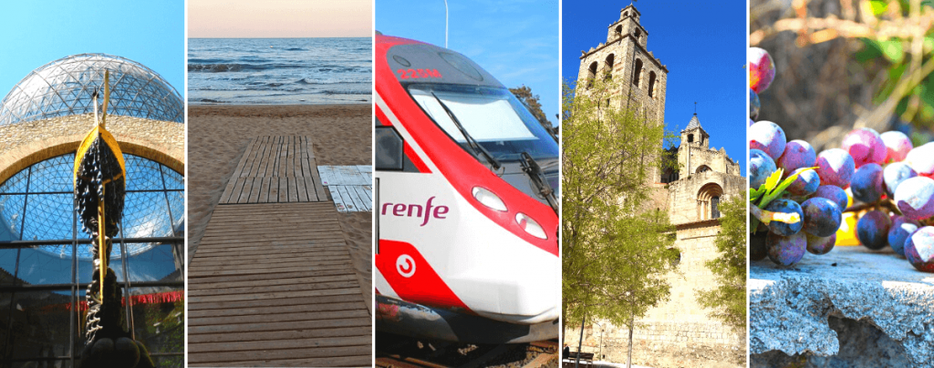 Towns near Barcelona to visit by train