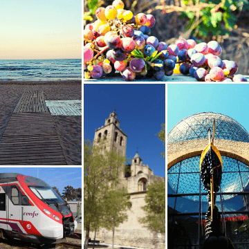 Best towns near Barcelona to visit by train