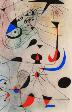Joan Miro Symbols: vaginas
