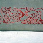Keith Haring graffiti in El Raval district