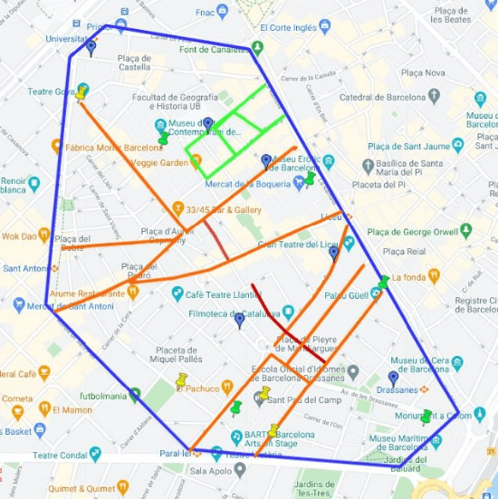 Safety Map of Raval