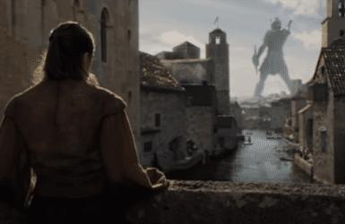 Arya filmed at a bridge in Gerona