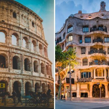 Barcelona sites vs Rome attractions comparison