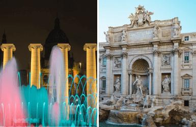 Barcelona Magic Fountain vs Fontana di Trevi