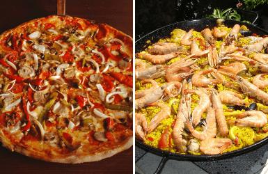 NYC pizza | Barcelona paella