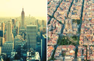 Views of Barcelona & New York