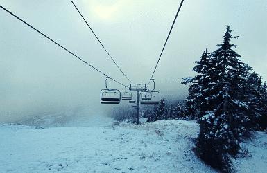 Vancouver ski resort, similar to the ones near Barcelona