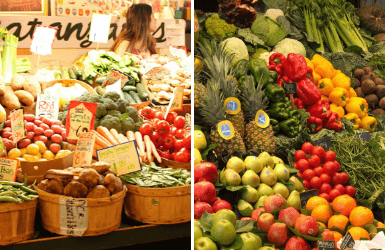 Vancouver and Barcelona market images