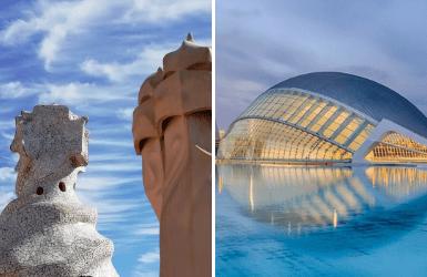 Valencia or Barcelona holiday: Architecture comparison
