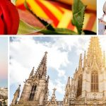 Barcelona or Valencia: photo collage