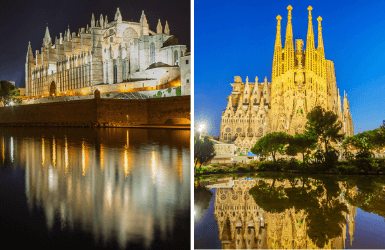 Barcelona vs Palma: Cathedral of Mallorca and Sagrada Familia