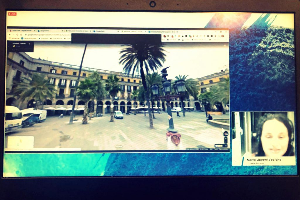 Marta during one of our Barcelona Virtual Tours