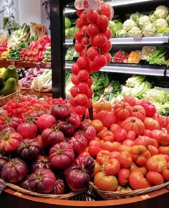 Tomatoes in one of our Food Tours Barcelona Spain