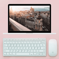 Virtual Tours of Madrid on a laptop