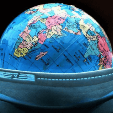 Face mask and toy globe