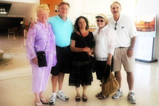 Guide with guests in one of our Barcelona tours after cruise
