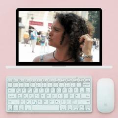 Computer during a Barcelona Virtual Tour