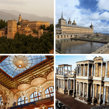Best examples of architecture of Spain