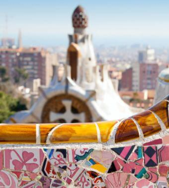 Park Guell, seen in our half day barcelona tours