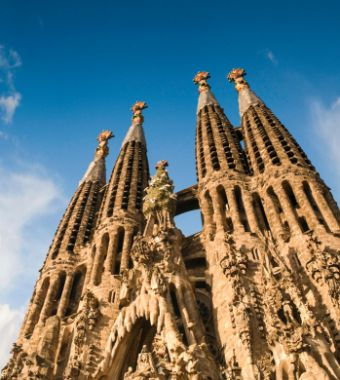 Sagrada Familia in our multi day tours from Barcelona