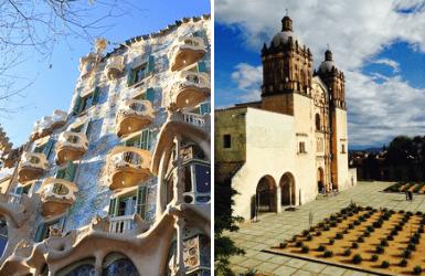 Spain vs Mexico architecture