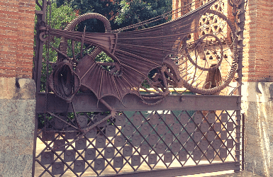 Antoni Gaudi Dragon Gate in Pavellons Guell