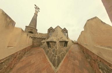 Gaudi Dragon Roof of Torre Bellesguard