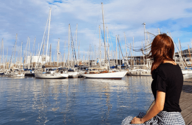 Port Vell, beat area to stay in Barcelona before cruise