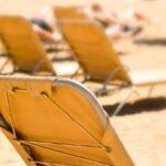 Beach of Barcelona in July
