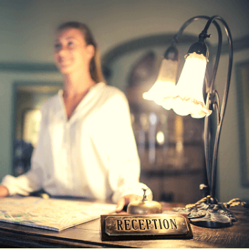 Receptionist in one of the hotels in Poblenou (Barcelona)