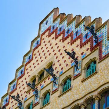 View of Casa Amatller (Barcelona, Spain)