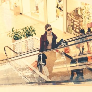 Woman in of the best Barcelona shopping malls