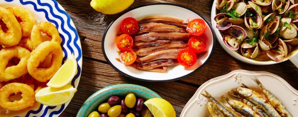 Best Barcelona foods displayed on table