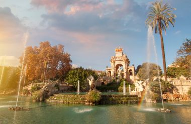Ciutadella Park, one of the early works of Gaudi