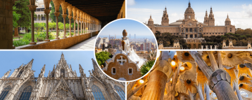 Barcelona sites visited in our 4 days tour