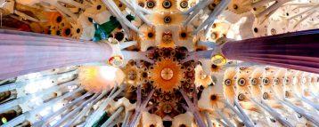 Columns and vaults of Sagrada Familia