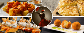 Flamenco dancer and tapas
