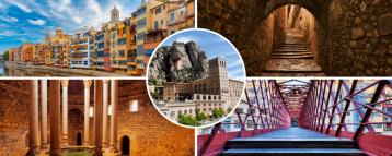 Girona Montserrat day trip from Barcelona Spain