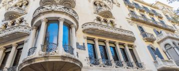 Balcony seen in our Barcelona Modernism Walking Tour